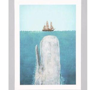 Terry Fan Whale Art Print framed 13 1/2 x 19 1/2